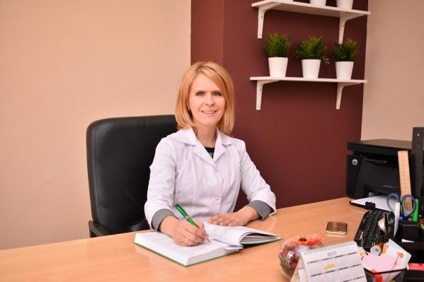 Заведующая поликлиникой № 3 ЦГБ № 20 Ирина Ялаева.