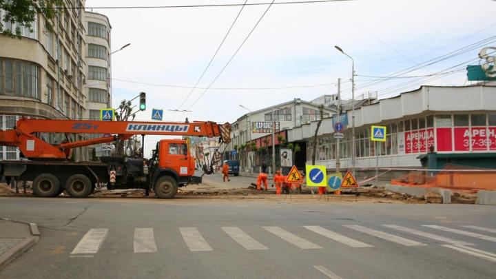 В Самаре ликвидировали прорыв теплотрассы на Куйбышева, из-за которого провалился асфальт