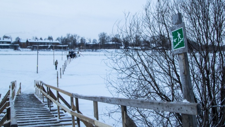 Последнюю пешеходную переправу открыли в Архангельске