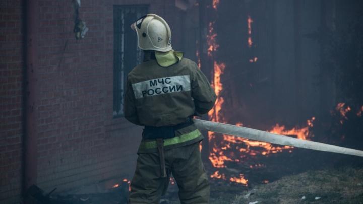 Крупный пожар в центре Ростова локализовали