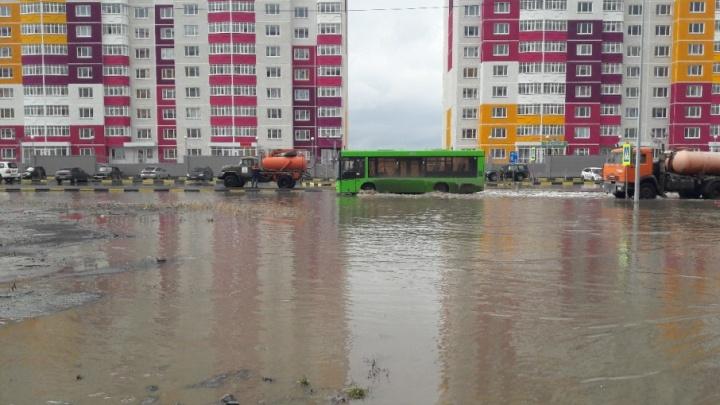 Потоп в ЖК «Комарово»: на улице Созидателей сделают ливневку