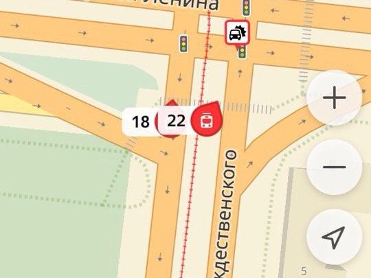 Движение трамваев в Ленинский район закрыто из-за ДТП на путях