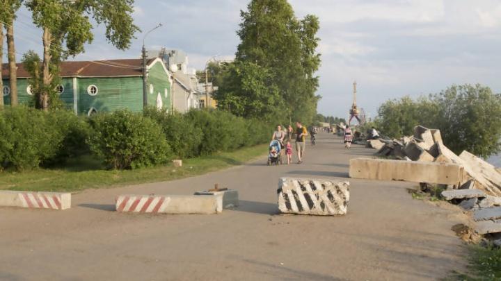 В Соломбале началась реконструкция Набережной Седова
