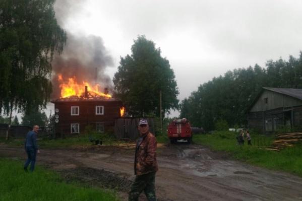 Еще до пожара дом был признан ветхим