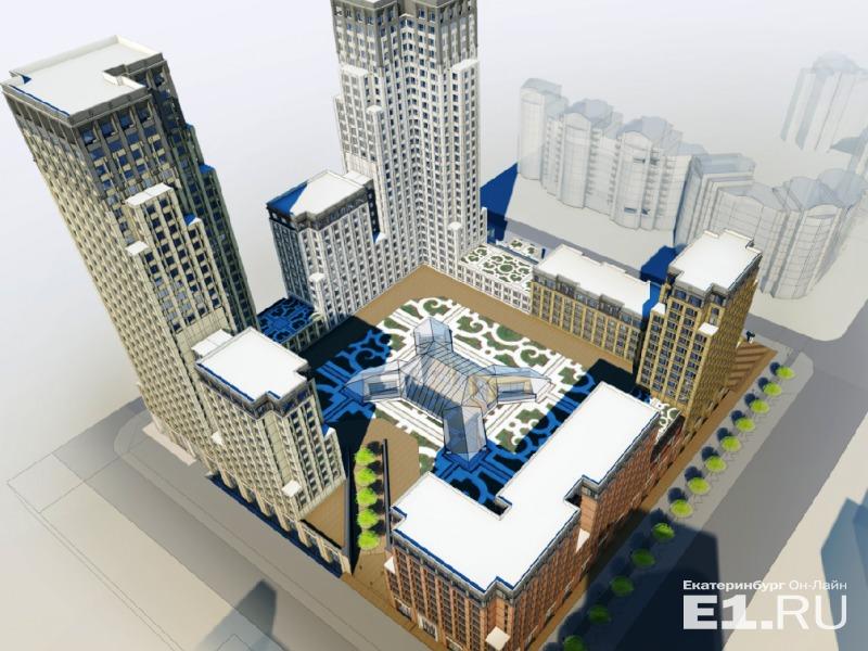 В центре ЖК планируют сделать фонтан.