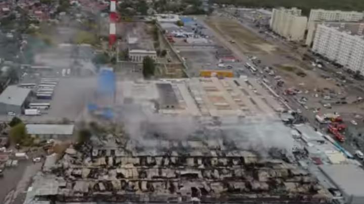 «Темерник» с высоты птичьего полета: сгоревший рынок превратился в руины