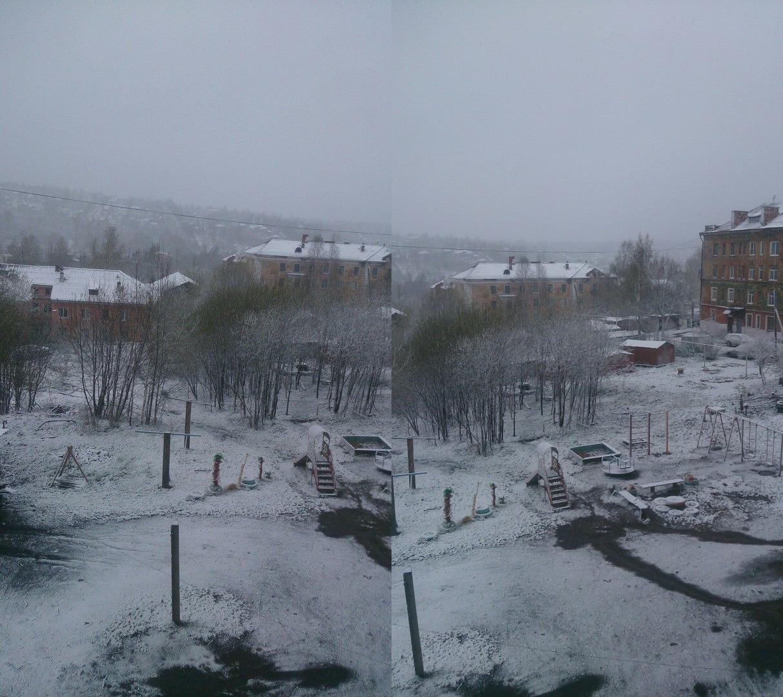 Снег выпал и в Кизеле