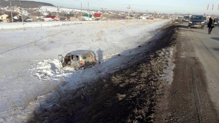 На трассе под Самарой пьяный водитель спровоцировал ДТП с Mercedes и Toyota Land Cruiser
