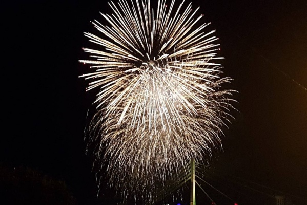 Празднование Дня города закончилось 15-минутным фейерверком