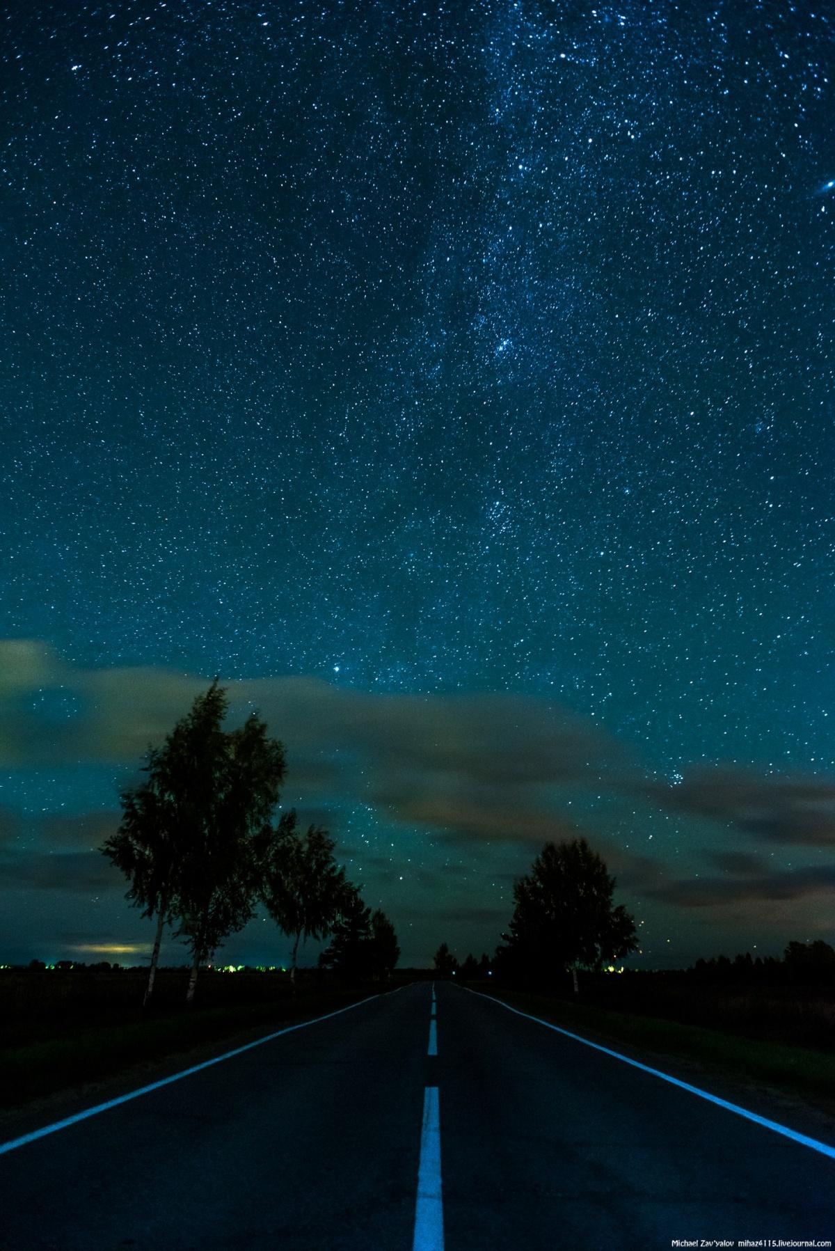 Млечный путь и путь земной. Окрестности Вятского 28 августа 2016