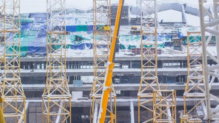 Работы на стадионе «Самара Арена» остановили на один день