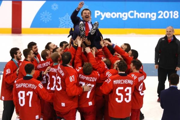 Российские хоккеисты выиграли у сборной Германии в овертайме