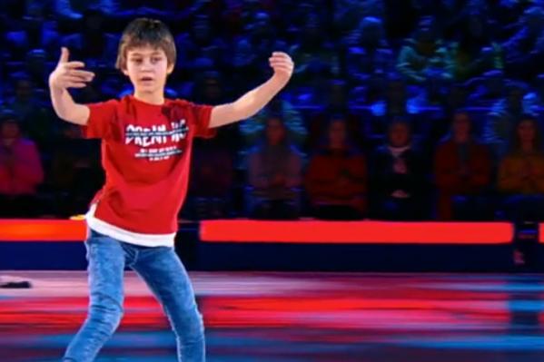 Десятилетний Марк Лукин хорошо выступил и прошел в следующий тур «Ледникового периода. Дети»