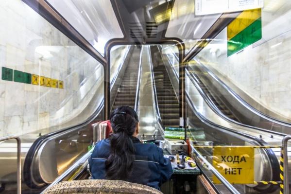 Эскалатор работает уже около 20 лет