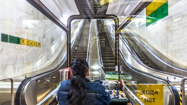 Станции метро «Московская» грозит закрытие из-за старого эскалатора