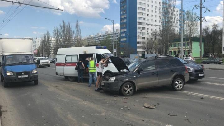 В ДТП с маршруткой на Московском шоссе пострадали дети