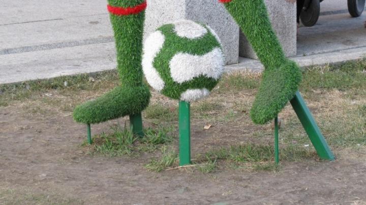 «Это позорище!»: самарцы жалуются на зеленые скульптуры на Ленинградской