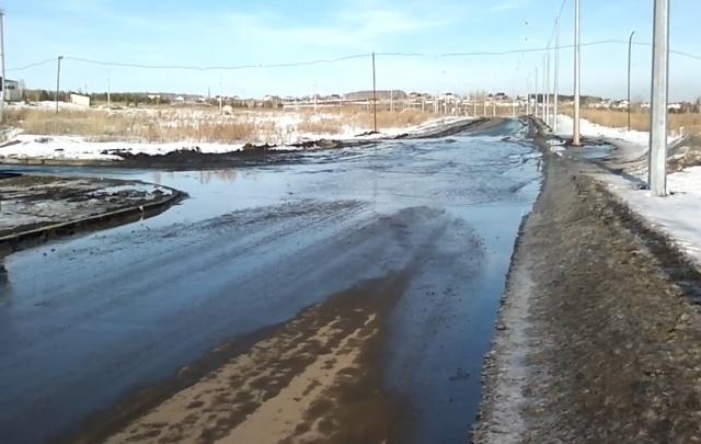 Дорога к челябинским посёлкам за год осталась без внимания властей