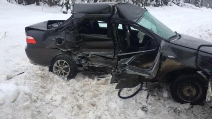 На трассе в Прикамье водитель Fiat погиб, выехав на встречную полосу