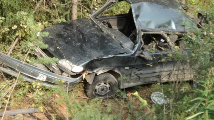 В Плесецком районе молодой водитель не смог справиться с «девяткой»
