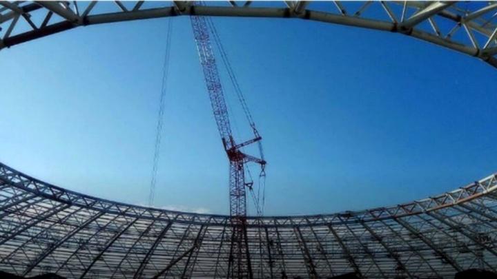 «Он свободен!»: со стадиона «Самара-Арена» вывезли все поддерживающие опоры