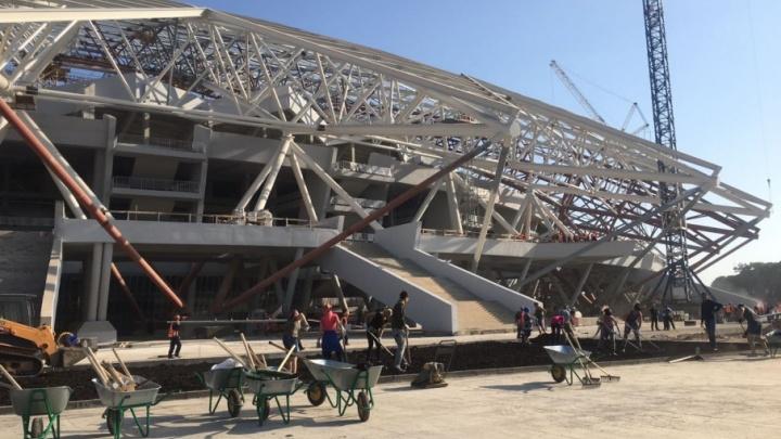 Купол стадиона «Самара-Арена» будет серебристо-белым