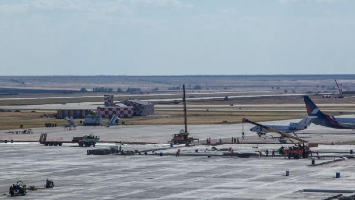 Реконструкция волгоградского аэропорта попала в объектив беспилотника