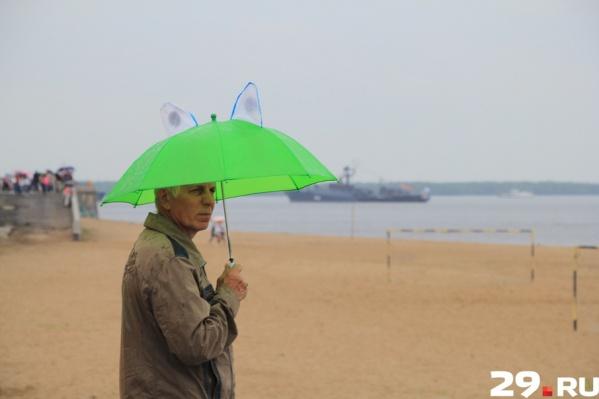 Зонтики северянам еще пригодятся