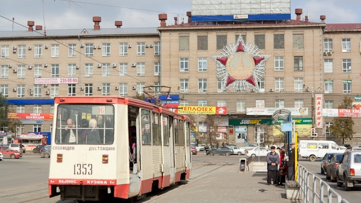 В Челябинске закрыли движение трамваев на железнодорожный вокзал