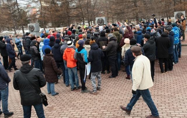 Челябинцы вышли на несогласованный митинг против коррупции