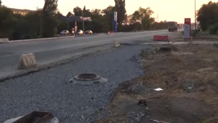 Волгоградцы запечатлели вялый ремонт шоссе Авиаторов