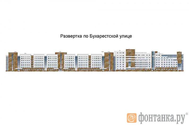 Проектирование и строительство инфекционной больницы по адресу: г. Санкт-Петербург, на перекрестке улицы О. Дундича и Бухарестской