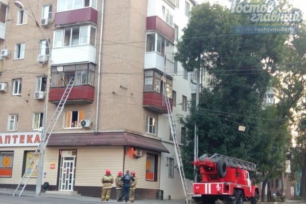 Пожар на Толстого тушили 20 человек