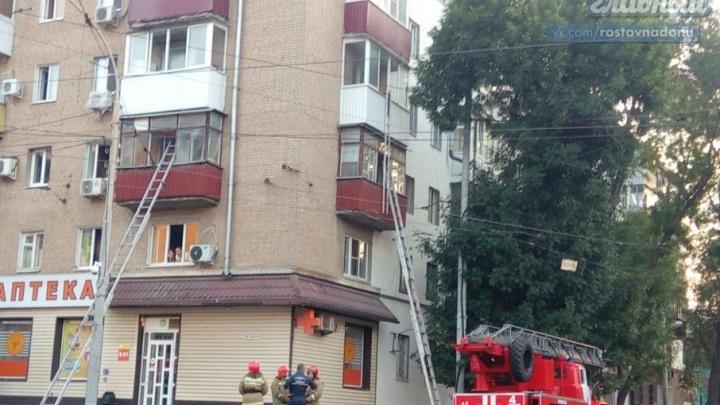На площади Толстого горела пятиэтажка