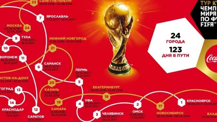 Кубок чемпионата мира по футболу привезут в Волгоград в ноябре