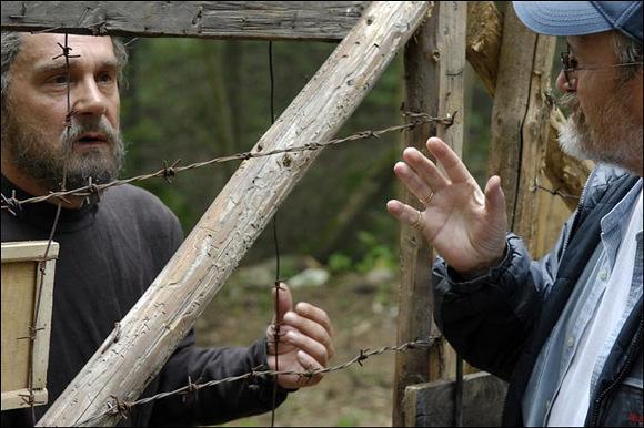 Сергей Маковецкий и Владимир Хотиненко на съемках фильма