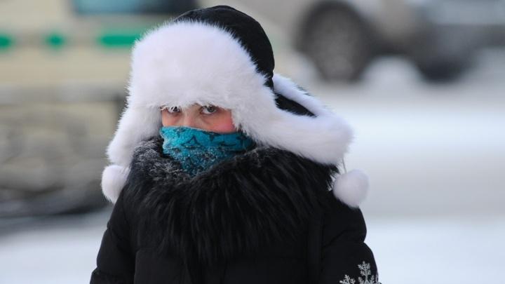 На следующей неделе в Екатеринбург придут 20-градусные морозы