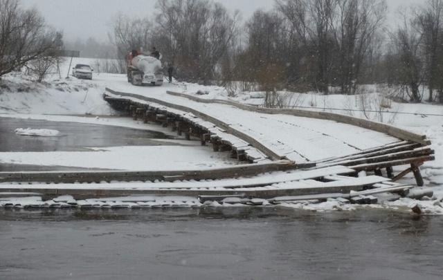 Мост через Кокшеньгу восстановят после прохождения паводка