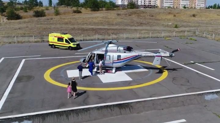 За сегодняшний день «летающая скорая» спасла жизнь троим жителям Волгоградской области