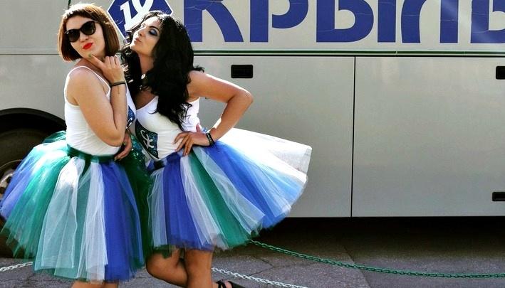 В зелено-бело-синей юбочке: в Самаре суперболельщицей ЧМ-2018 стала Елизавета Леванова
