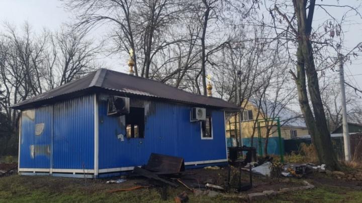 Храм в парке Собино могли сжечь двое местных подростков