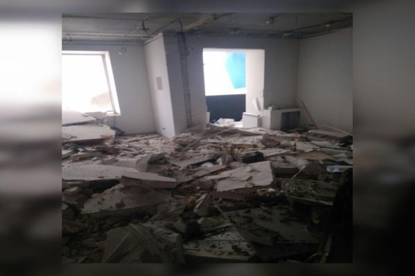 Так выглядит квартира, в которой находился эпицентр взрыва