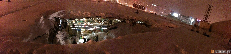 Фото обвалившегося участка, сделанное с крыши О\\\\\\\\\\\'Кея