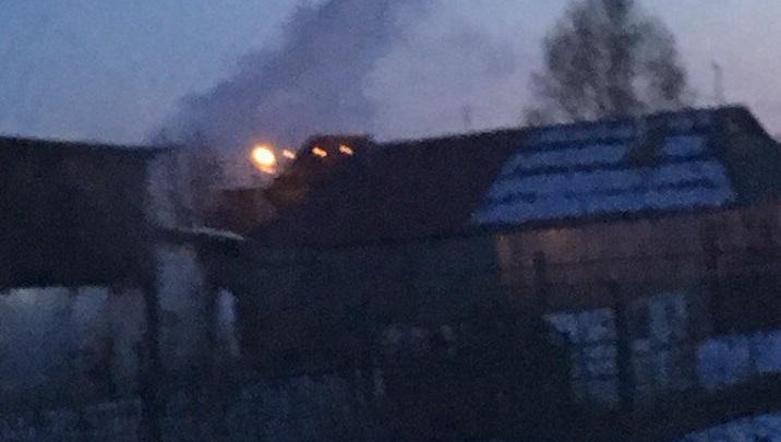 Ночью под Тюменью сгорел жилой дом