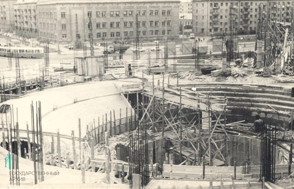 Этап строительства нового здания пермского цирка