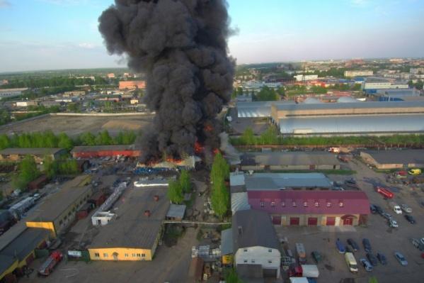 При пожаре погиб рабочий