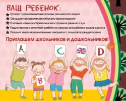 Уроки английского для самых маленьких