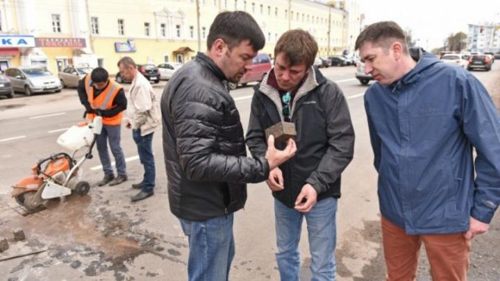 На улице Победы сняли пробы асфальта: когда озвучат результат