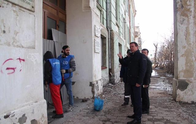 В Самаре приводят в порядок здание и территорию реального училища