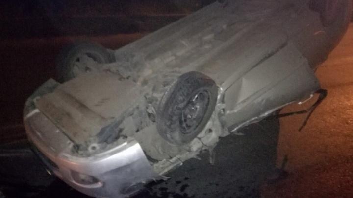 Под Волгоградом KIA с пьяным водителем врезалась в «Газель» и приземлилась на крышу